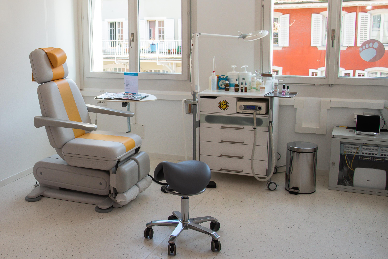Dienstleistungen - Behandlungsraum bei Podoprima